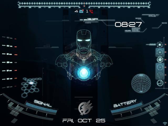 Os7 Animated Jarvis Theme Blackberry Theme Wallpapers Animated