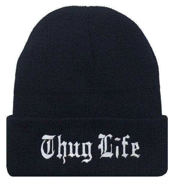 2be011d16b1cb THUG LIFE Tupac Urban Swag Beanie Cap Hat