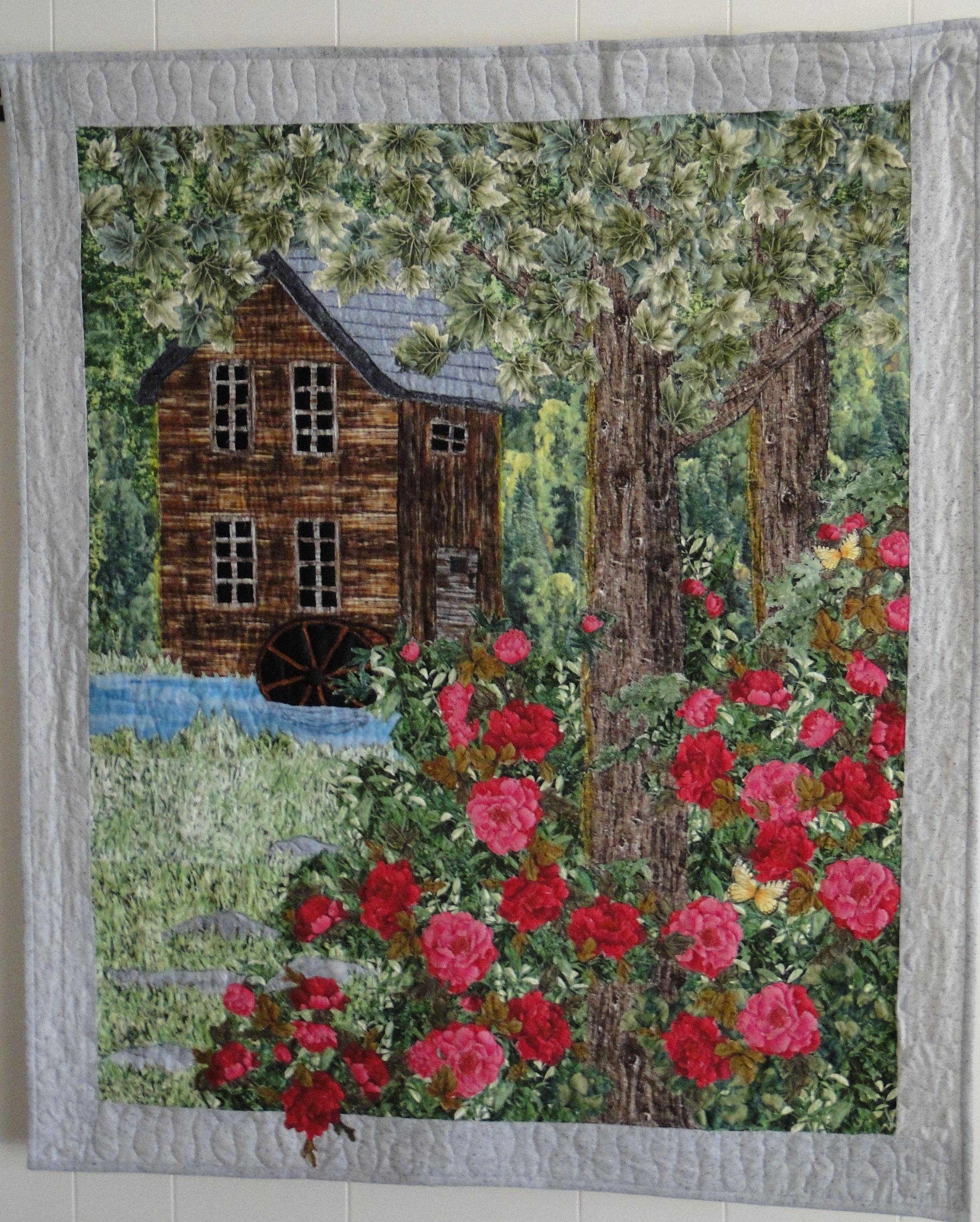 Landscape Quilts | The Old Mill | Quilts: #2 Landscape & Art ... : art quilts pinterest - Adamdwight.com