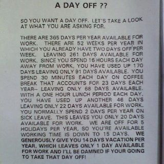 Request For Another Day Off Denied With Images Boss Humor