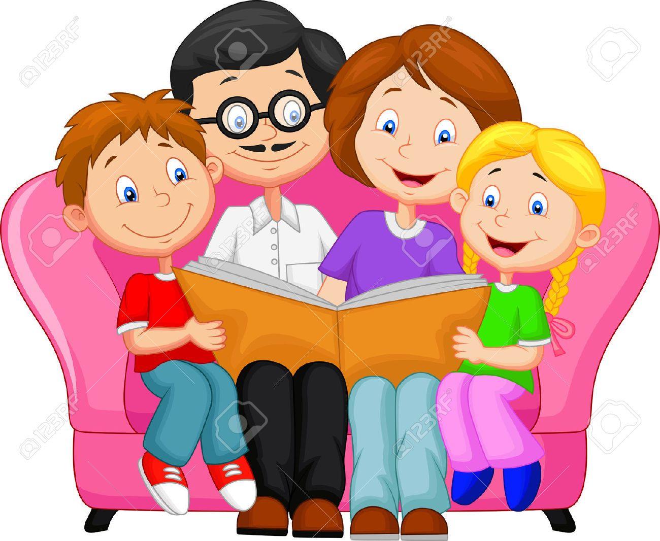 Familia Feliz Caricatura Imágenes De Archivo, Vectores, Familia ...