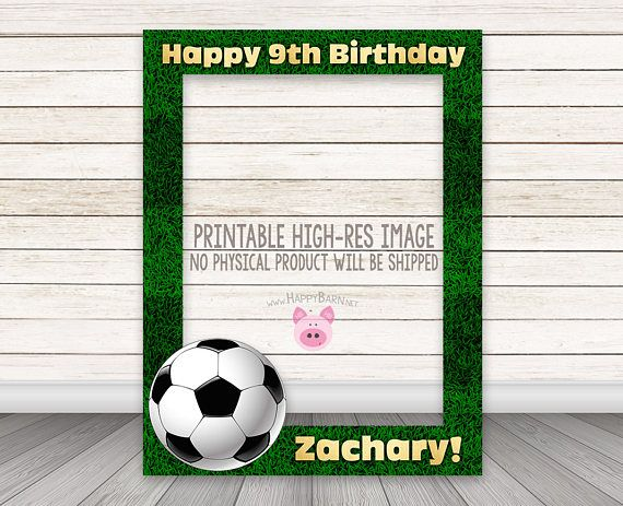 Printable Soccer Photobooth Frame Football Photo Booth Frame Etsy In 2020 Soccer Photo Booth Frame Sports Birthday