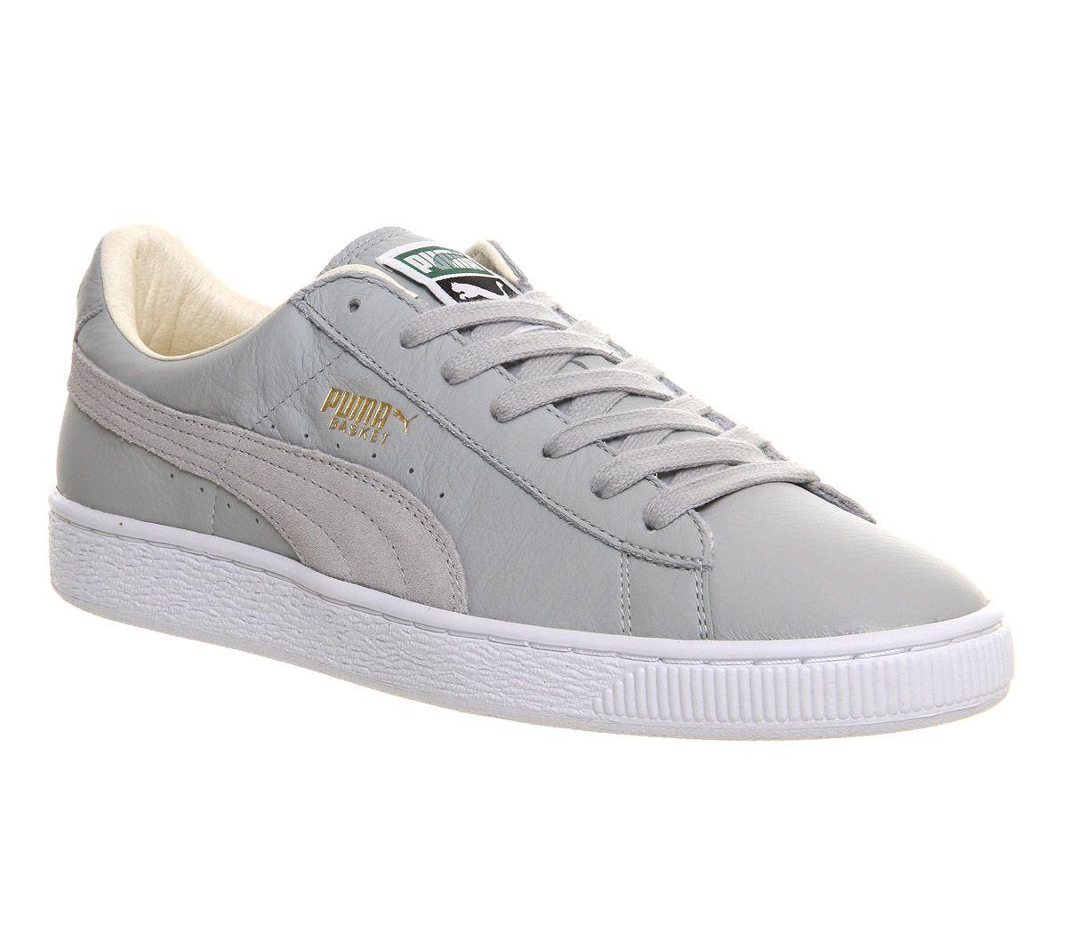 puma basket classic grey