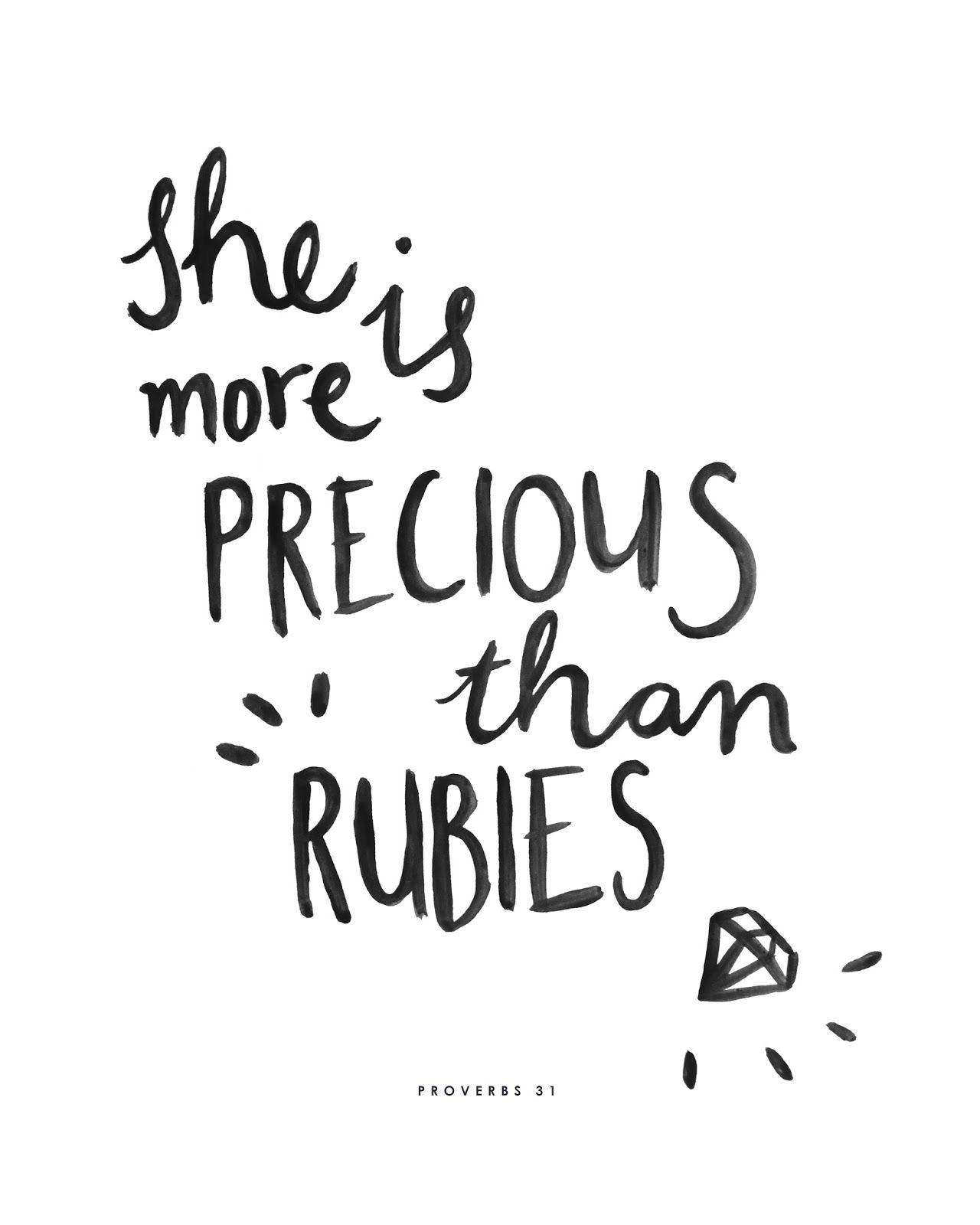 Brush Script Hand Lettering Black And White Quote Cute