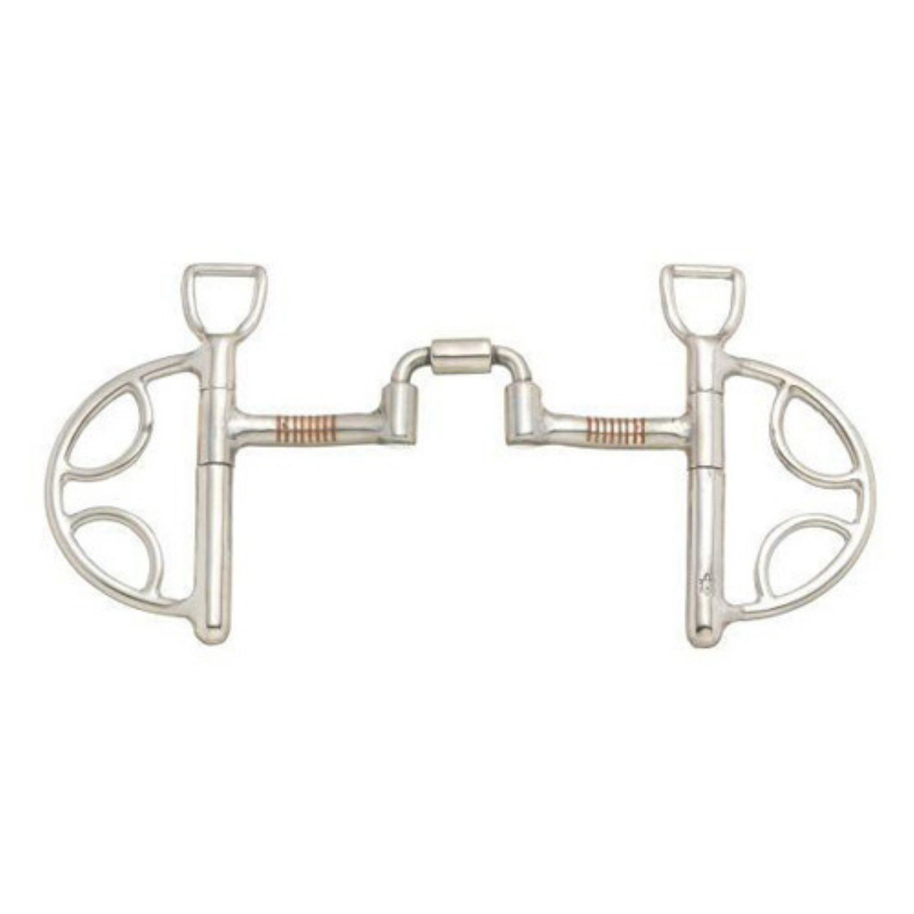 """Kelly Silver Star Mullen Mouth Reining Horse Bit 5/"""" mouth Stainless Steel"""
