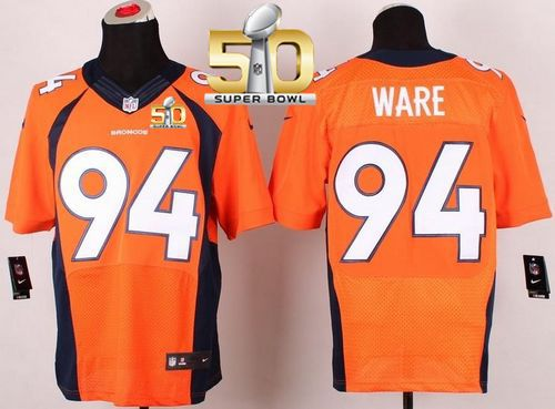repjerseys.ru Mens Denver Broncos  94 DeMarcus Ware Orange Team Color Super  Bowl 50 Elite 83e978eec