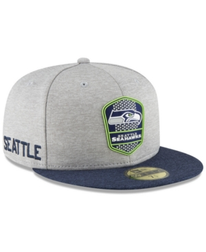 e0a0cdbb New Era Boys' Seattle Seahawks Official Sideline Road 59FIFTY Fitted Cap -  Blue 6