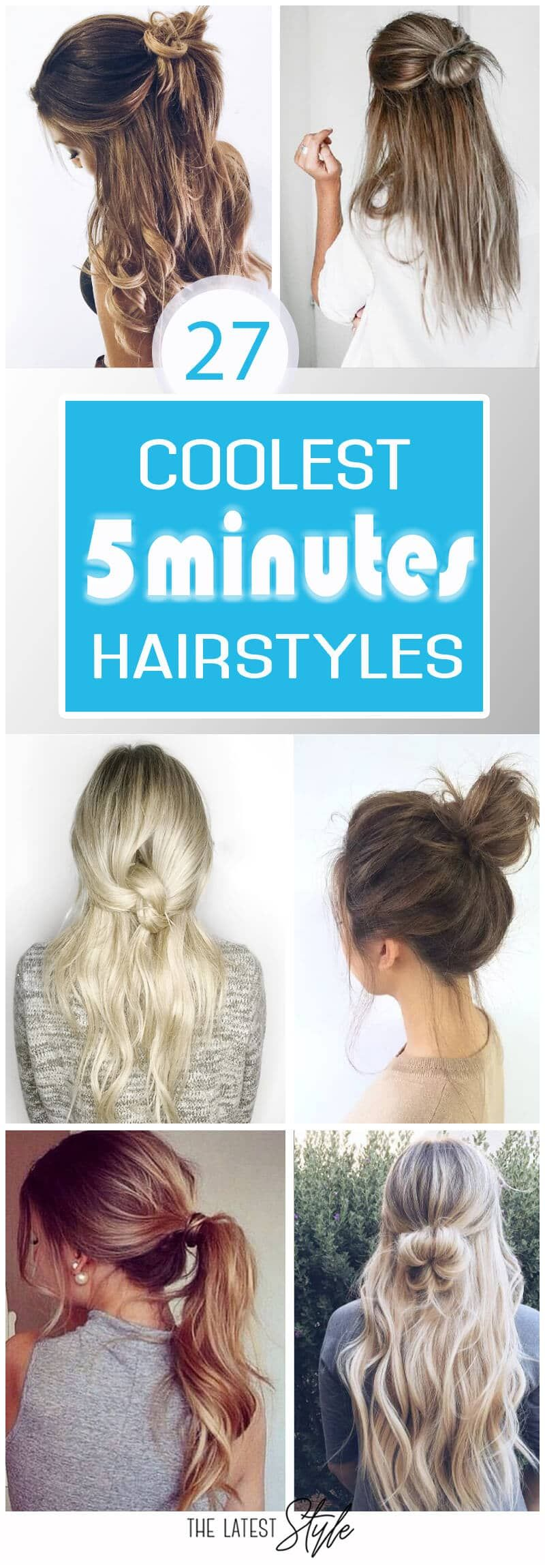 five minute hairstyles to keep you sane in the morning hair