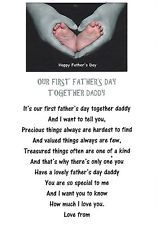 gift poem for daddys first fathers day personalised mother s day