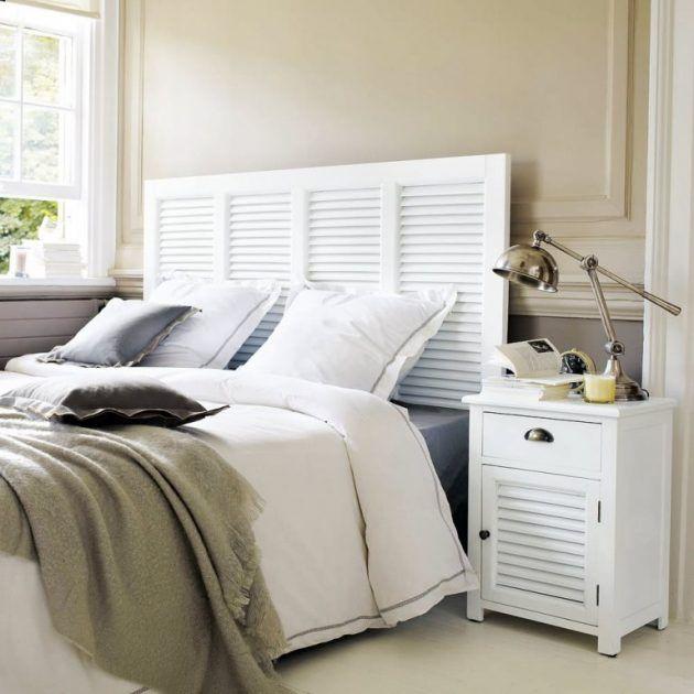 I like it! Ein Schlafzimmer in weiß und ein Kopfteil, welches