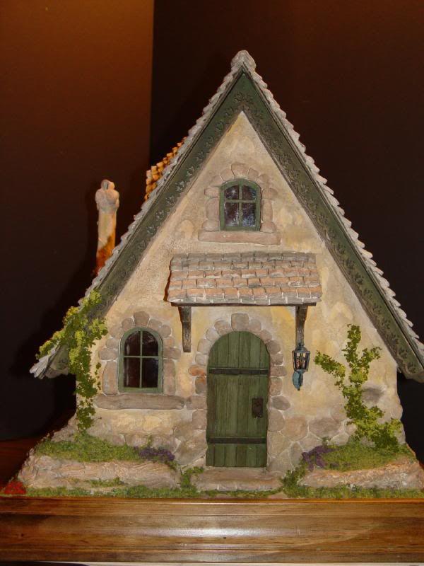 Rik Pierce Storybook Cottage   PUTZ & GLITTER HOUSES   Pinterest ...