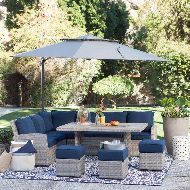 Patio Furniture Makeover, Outdoor Bistro Set With Umbrella