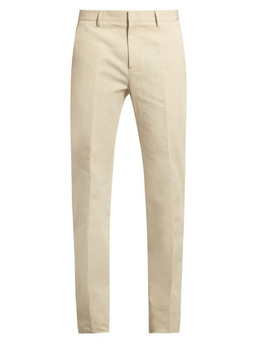 876b3f0f1a8 CALVIN KLEIN COLLECTION Exact Slim-Fit Cotton And Linen-Blend Trousers.   calvinkleincollection  cloth  trousers