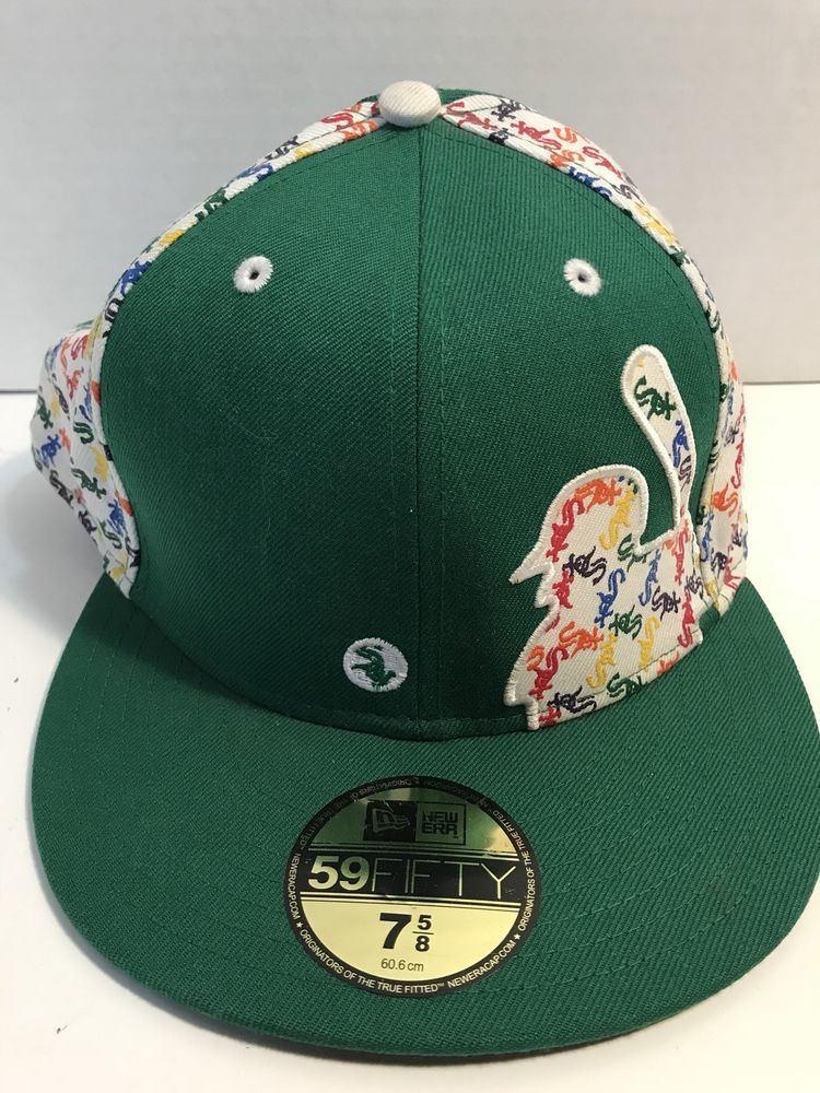 17771c2524031 Chicago White Sox New Era Baseball Cap Hat Comiskey MLB Green RARE ...
