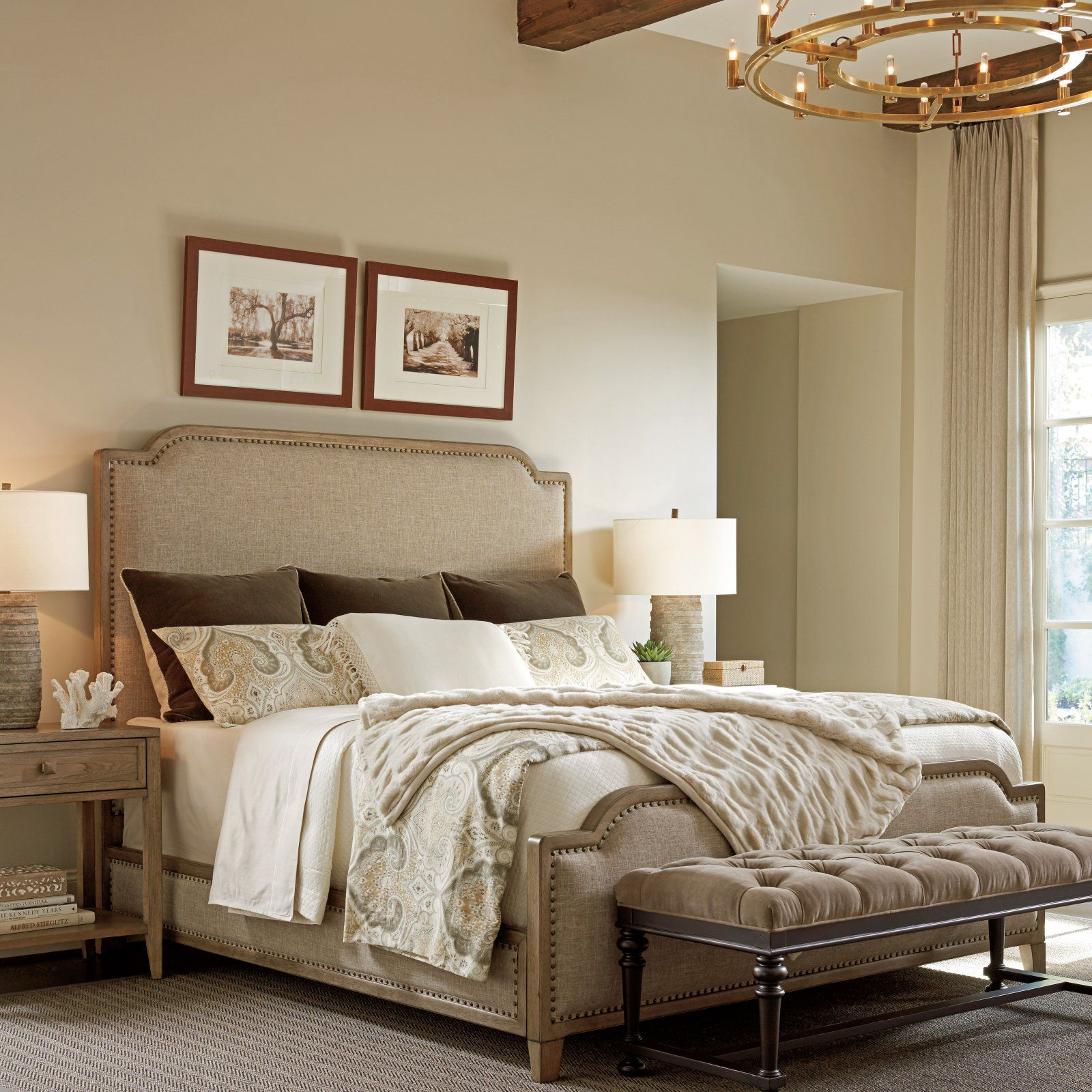 tommy bahama home cypress point stone harbour upholstered bed size rh pinterest com