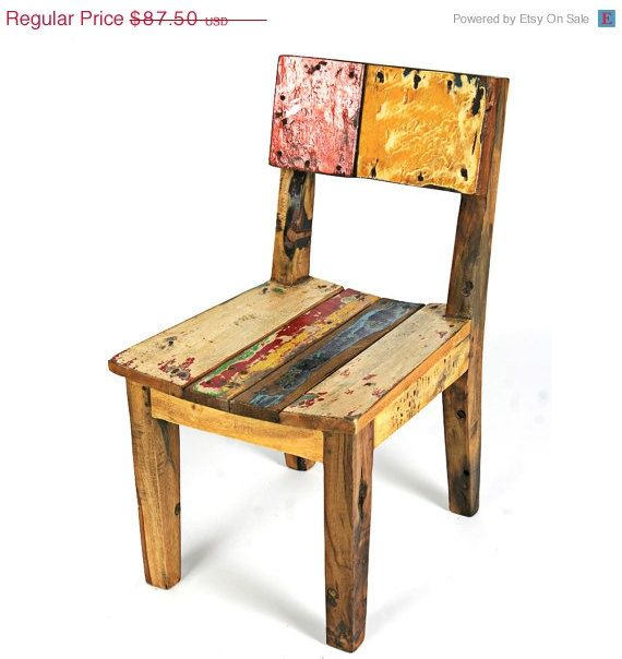 reclaimed wood toddlers chair Happy Tots Pinterest Woods