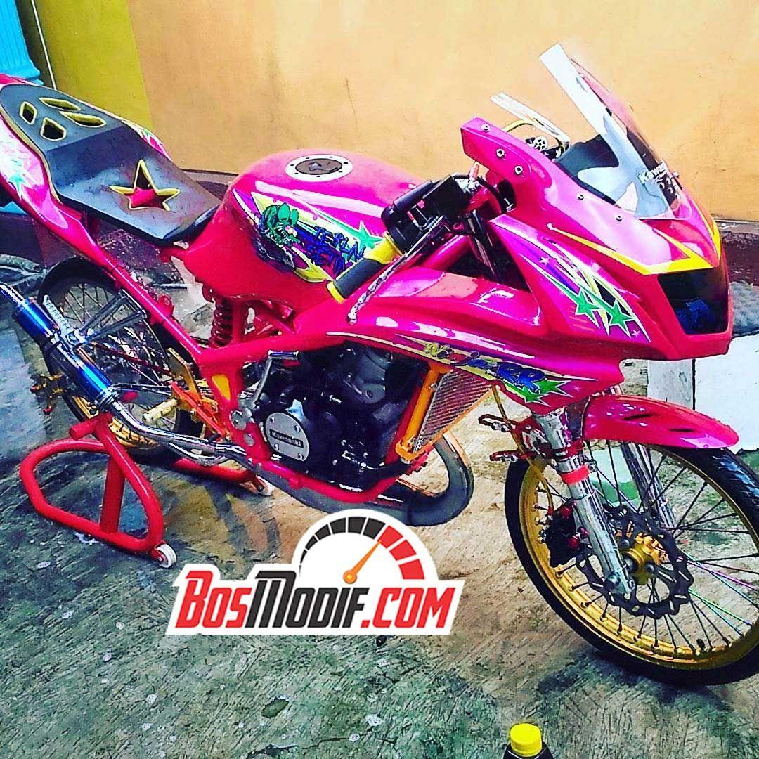Modifikasi Motor Kawasaki Ninja Warna Pink Mobil Motor