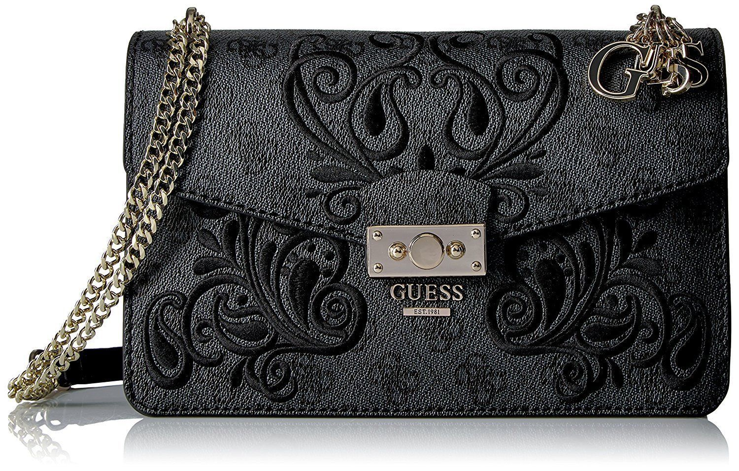 79cbffd2970a GUESS Arianna Convertible Crossbody Coal