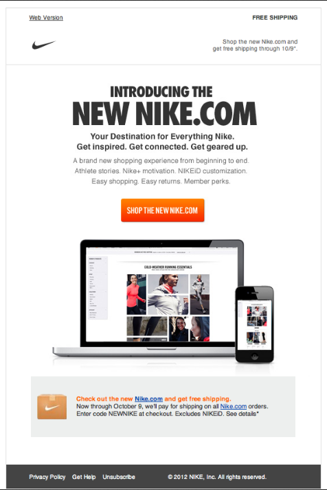 estimular revisión Manual  Nike - Newsletter - Beautiful Email Newsletters | Email marketing  inspiration, Email marketing design, Email template design