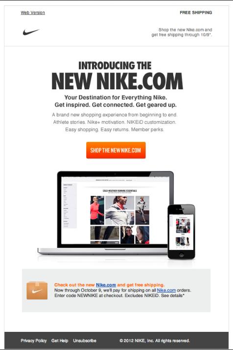 Nike – Newsletter HTML email marketing design