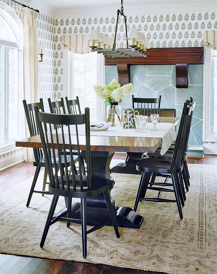 a rustic and refined family cottage on lake simcoe dining room rh pinterest com