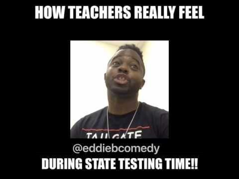 How Teachers Really Feel During State Testing Time Youtube Teacher Memes Funny State Testing Teacher Humor