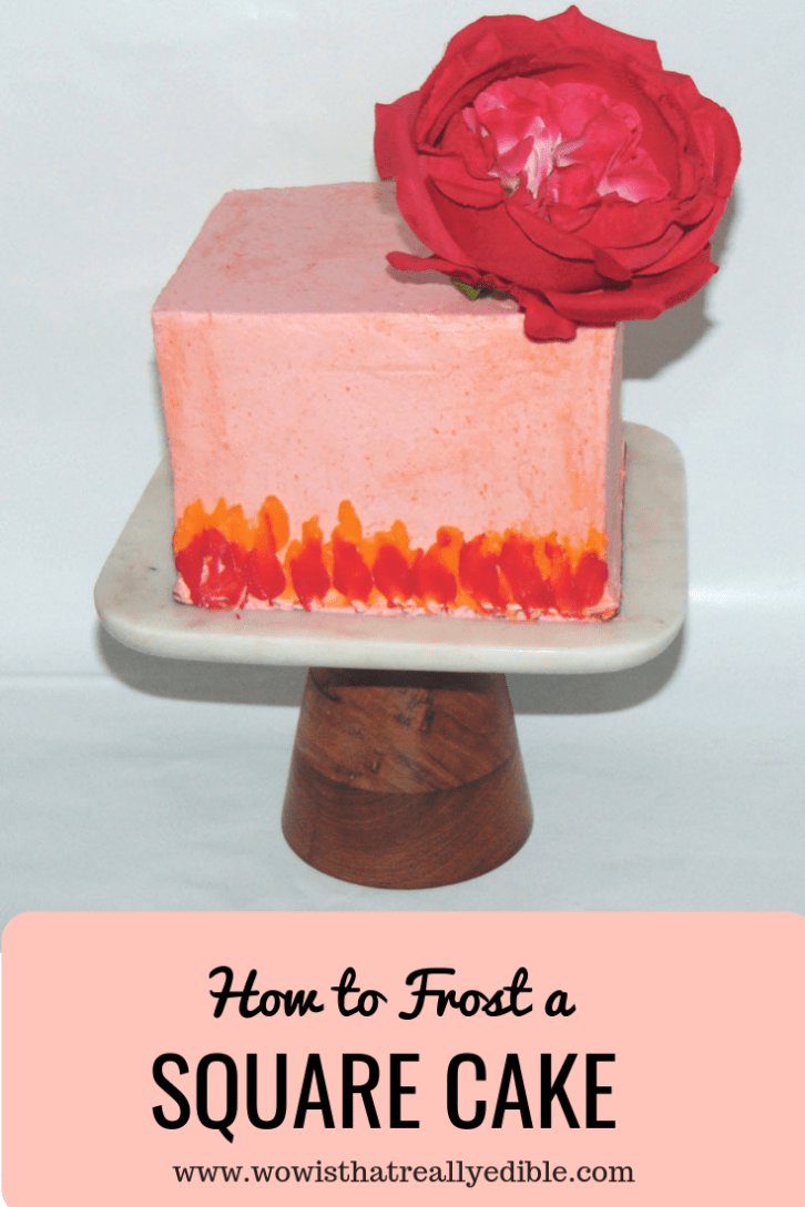 How to Frost a Square Cake with Buttercream - Wow! Is that really edible? Custom Cakes+ Cake Decorating Tutorials