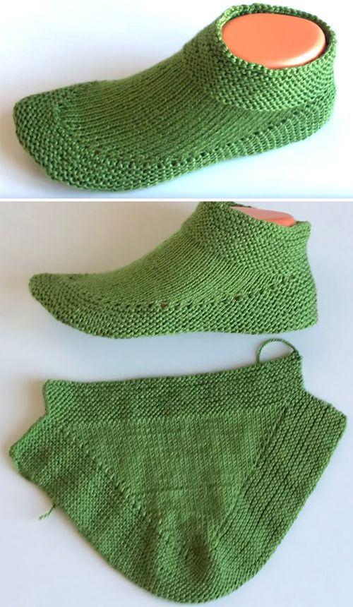 Knit Booties in 15 minutes - Tutorial (Amazing Knitting) #knitting