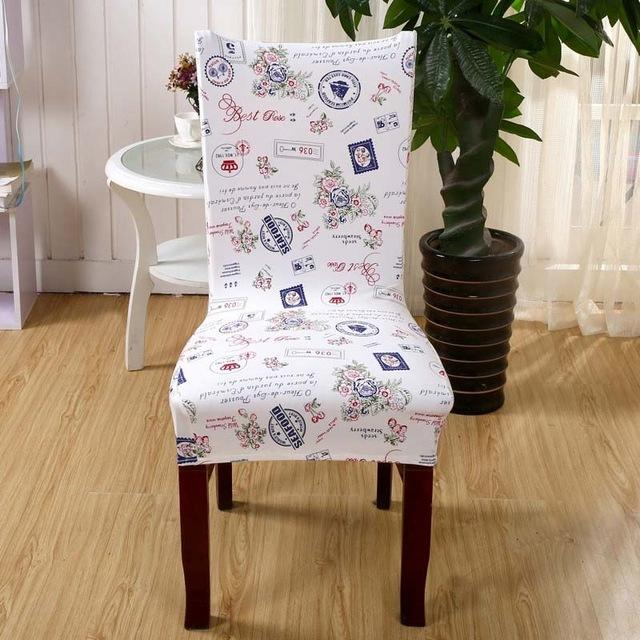 Plaids Flower Pattern Stretch Home Decor Dining Chair Cover Beauteous Stretch Covers For Dining Room Chairs Design Decoration