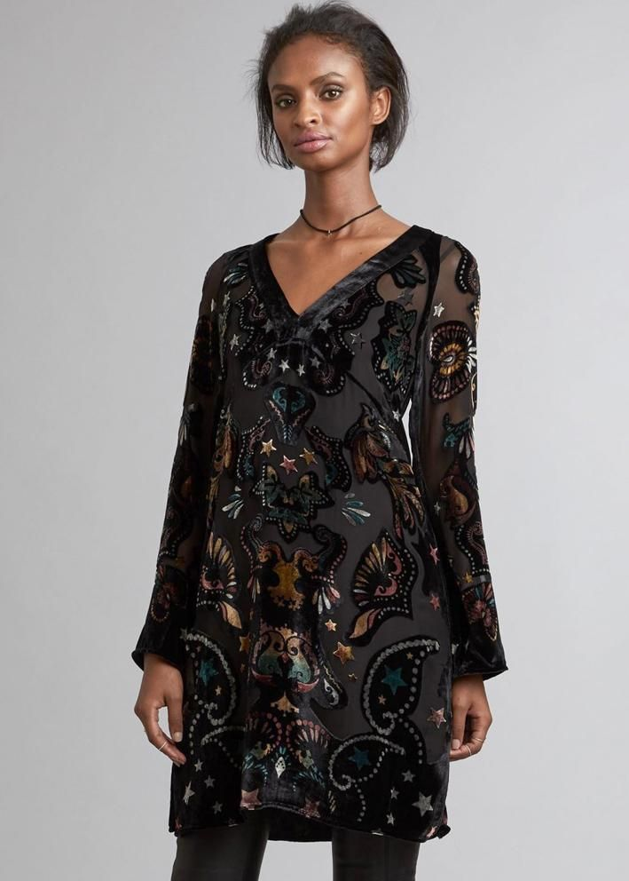 Odd Molly Velour Kjole 717T-880 Magic Mystery Dress - asphalt