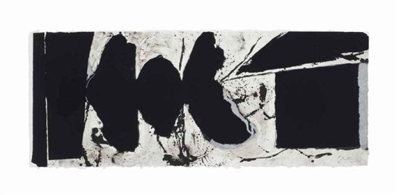 Artwork by Robert Motherwell, Elegy Black Black, Made of lithograph in colors on TGL handmade paper