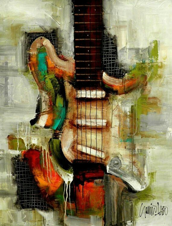 pin by charles walter on cool abstracts pinterest guitars paintings and sanat. Black Bedroom Furniture Sets. Home Design Ideas