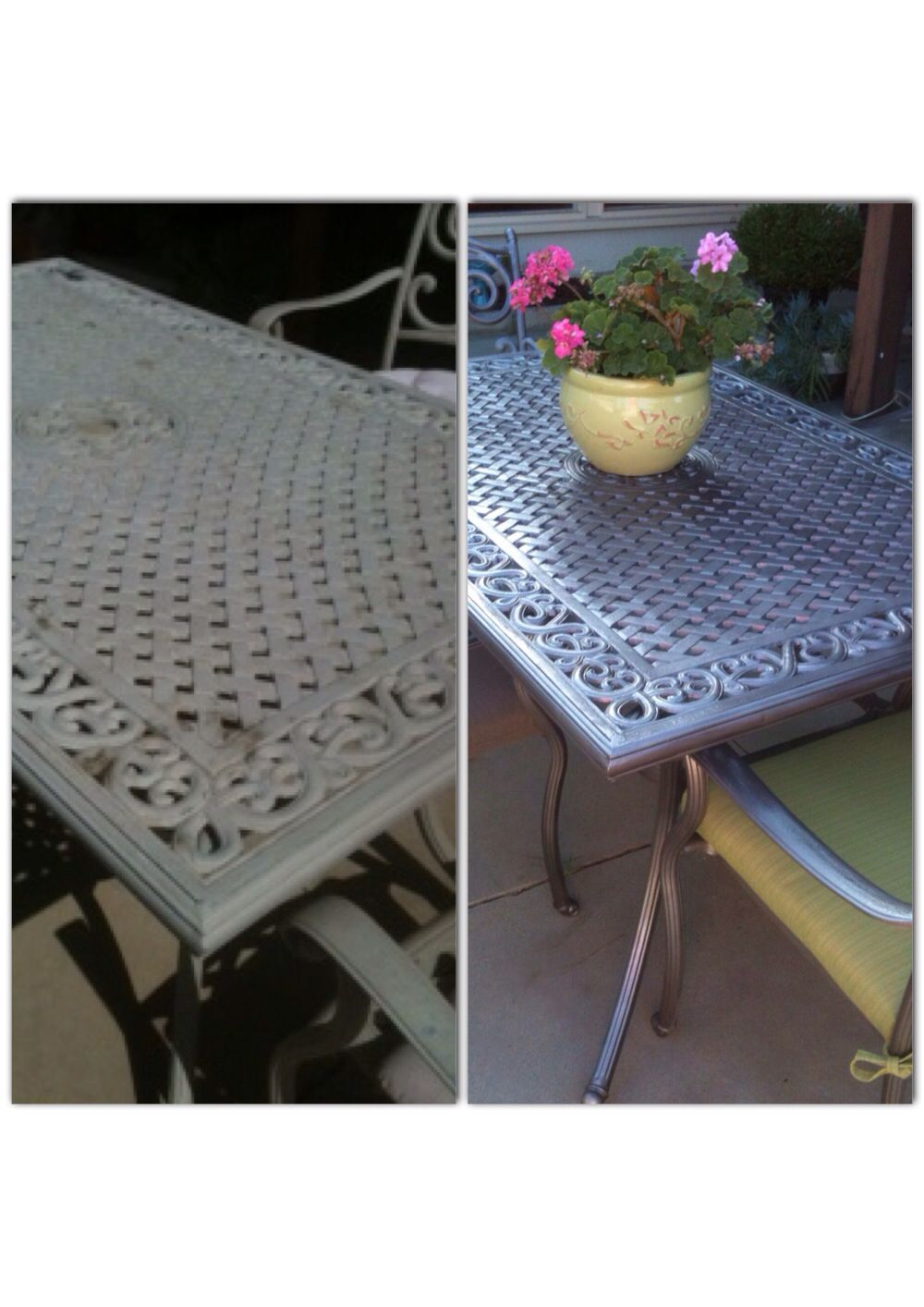 Transformed This Patio Set In One Afternoon Painted Patio