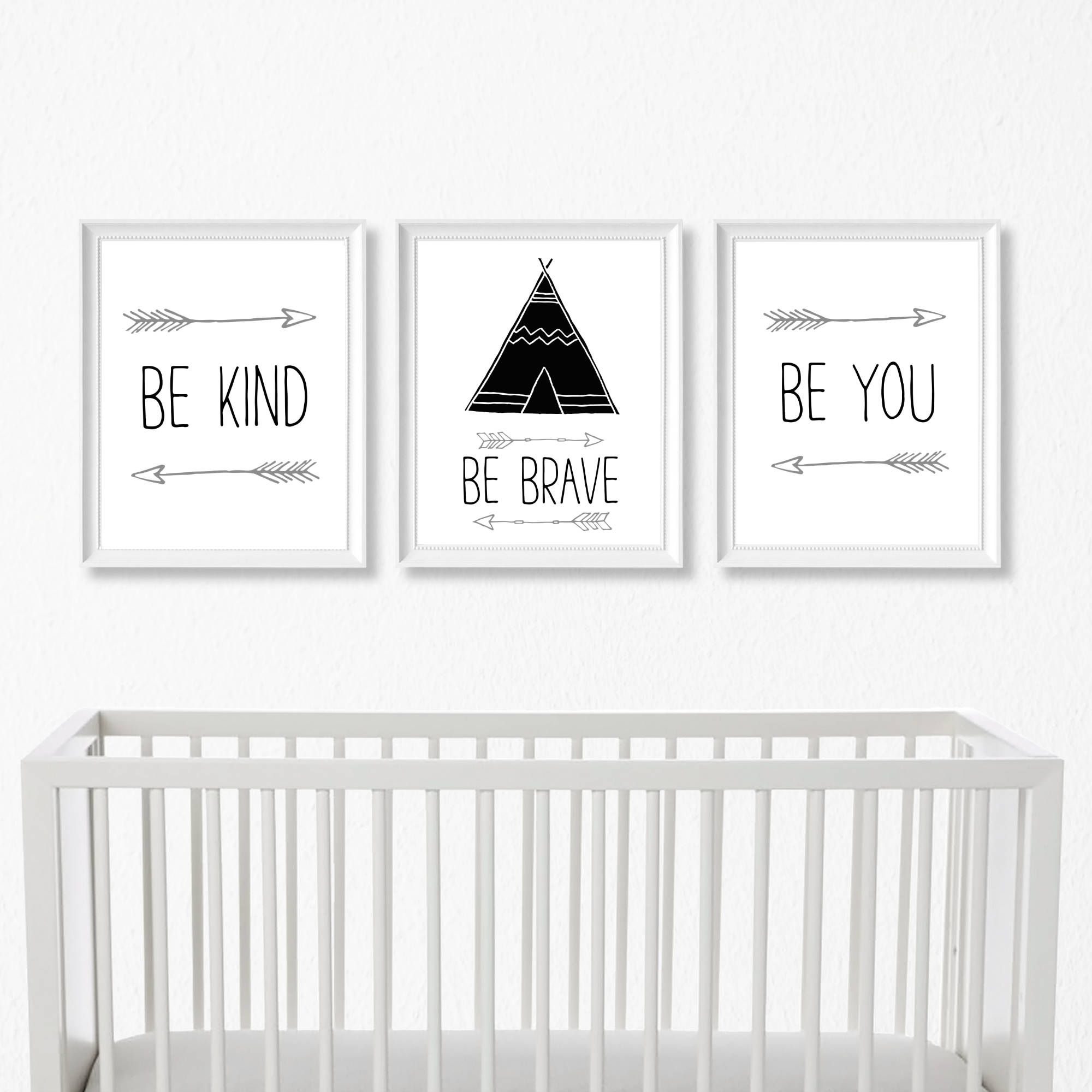 Boho Tribal Nursery Set Of 3 8X10 Wall Art Prints,