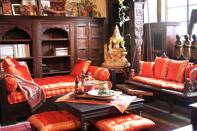 Design a glamorous indian living space indian living for Ethnic indian living room designs