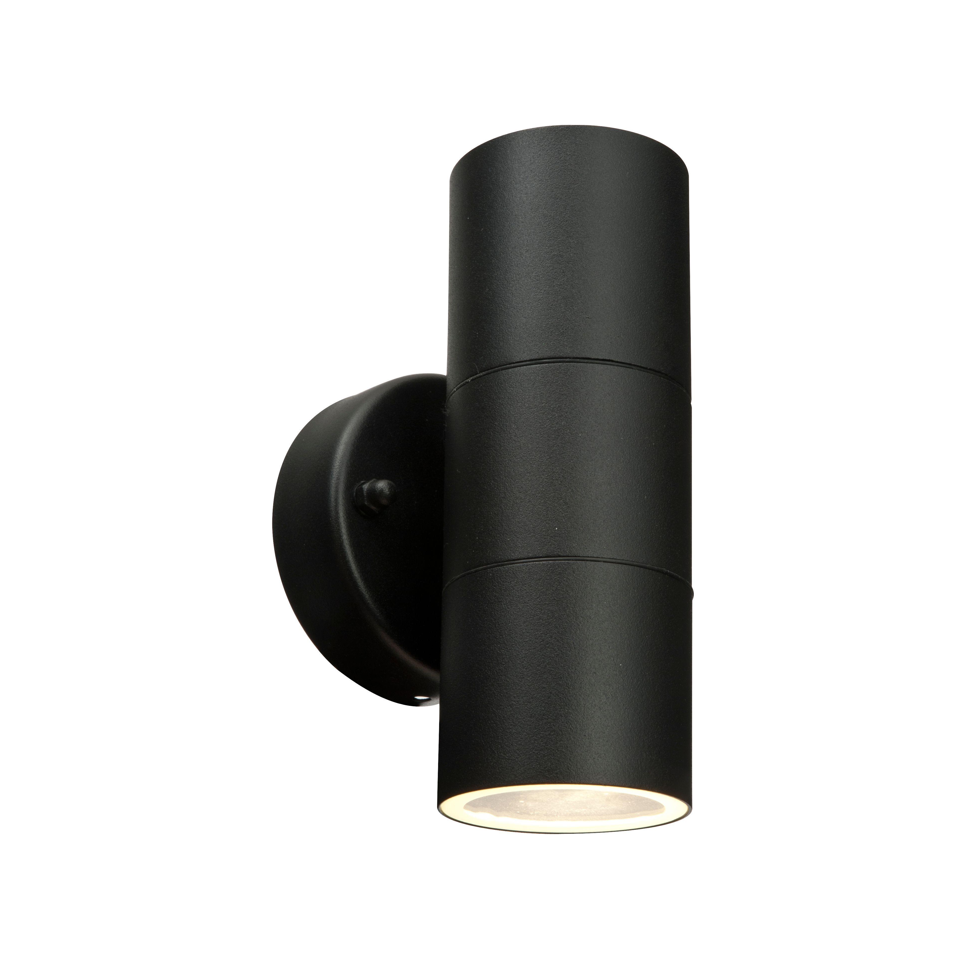 Blooma somnus black mains powered external up u down wall light