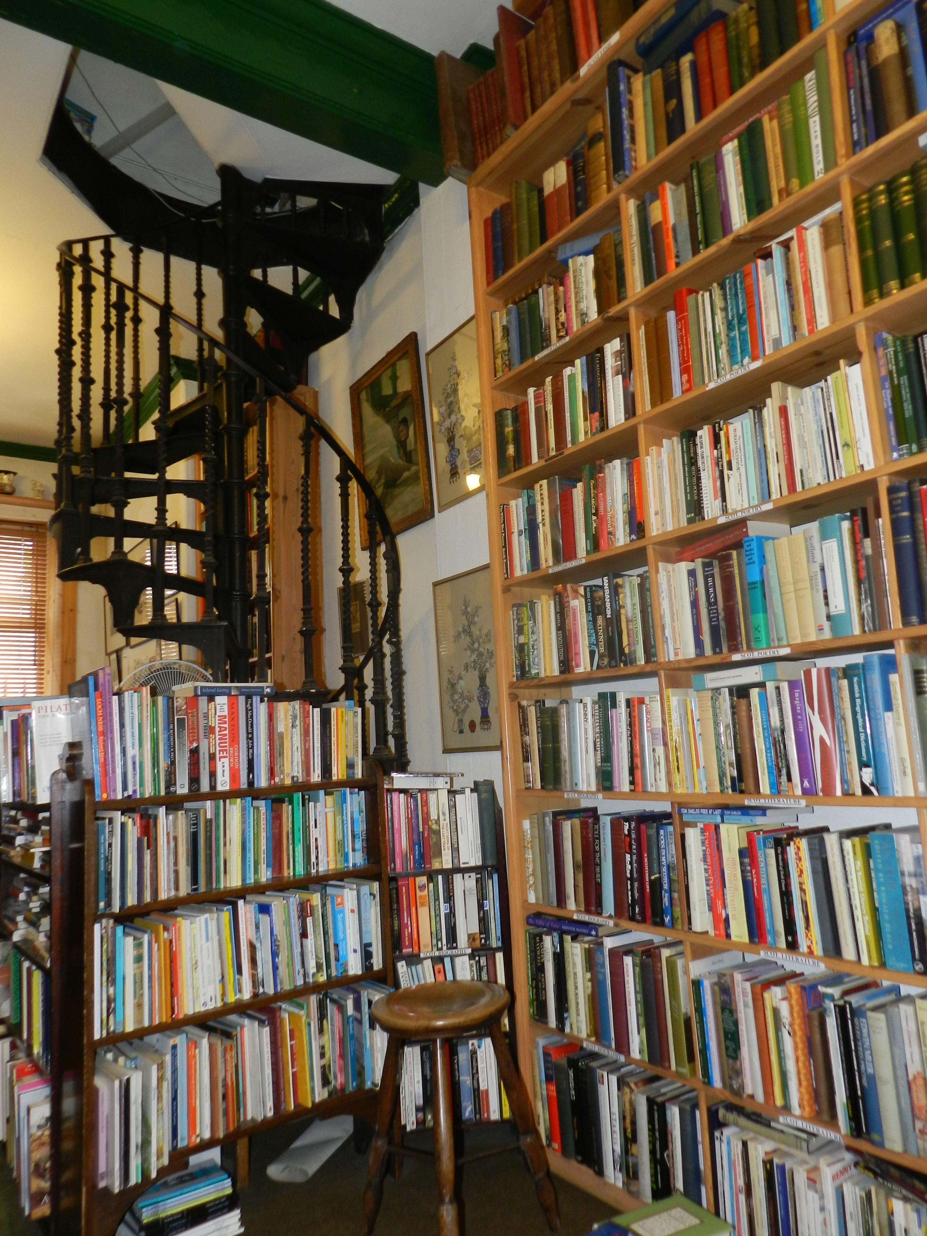Interior Of Caledonia Books Glasgow Scotland Home Library
