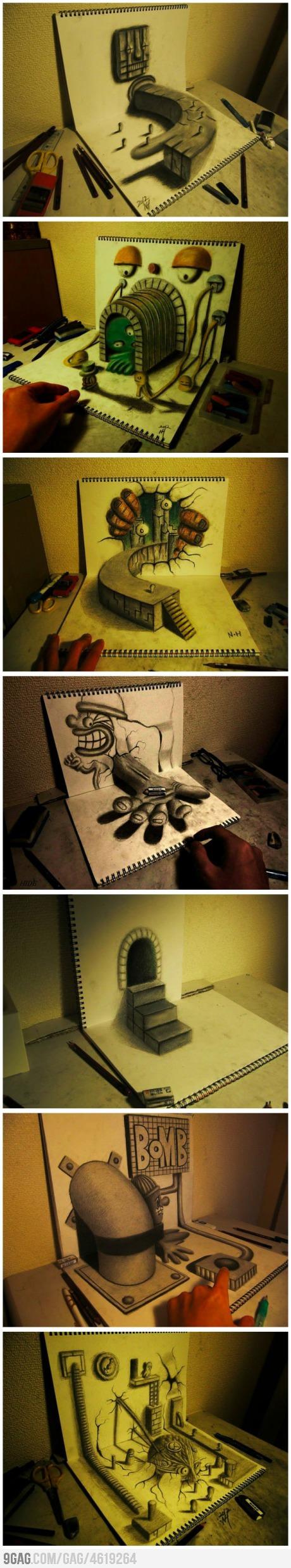 3D sketchbook renderings.