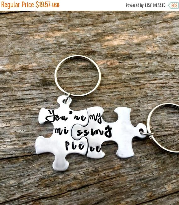 couple gifts my missing piece puzzle piece key chains husband