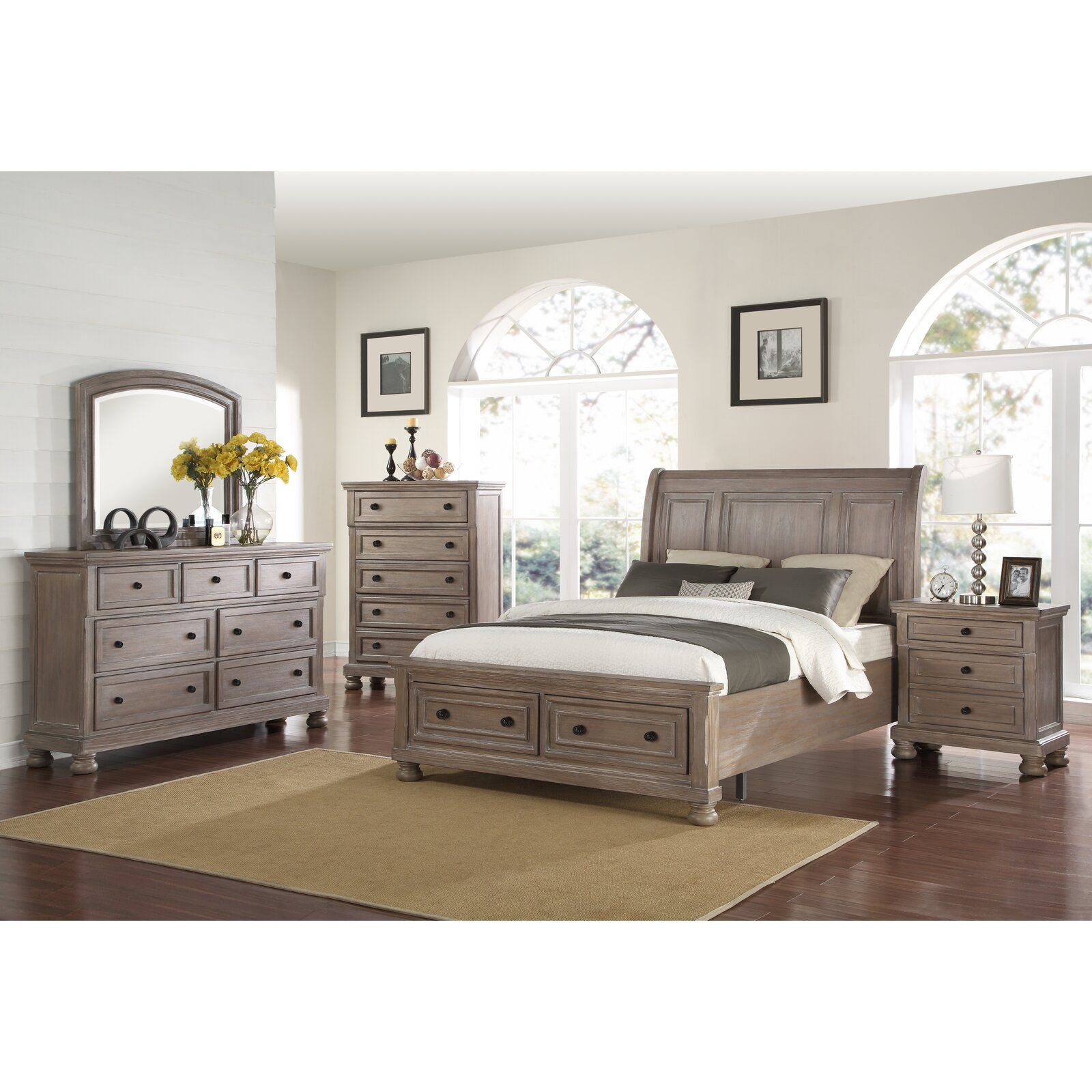 Willesden King Platform Solid Wood Configurable Bedroom Set