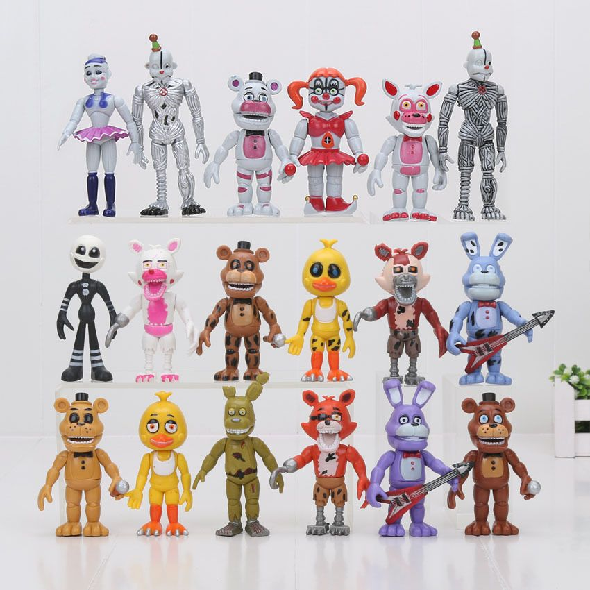 6PCS Five Nights at Freddy/'s Sister Location Figure Kids Collectibles Set S