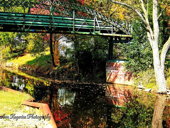Bridge over a canal by annkagarise on Etsy, $15.00