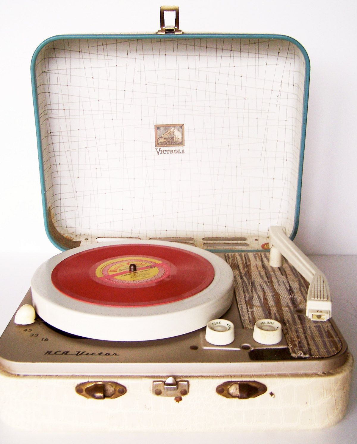 Rca Victor Victrola Suitcase Record Player 1950s
