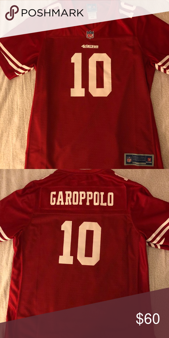 best sneakers a70bc d6382 49ers Jimmy Garoppolo Scarlet Jersey EUC. No stains or rips ...
