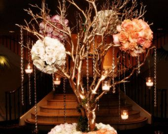 16 Tall Tree Champagne Gold Manzanita Branches Only Centerpiece Diy Wedding Ann Gold Tree Branch Centerpiece Manzanita Tree Centerpieces Branch Centerpieces