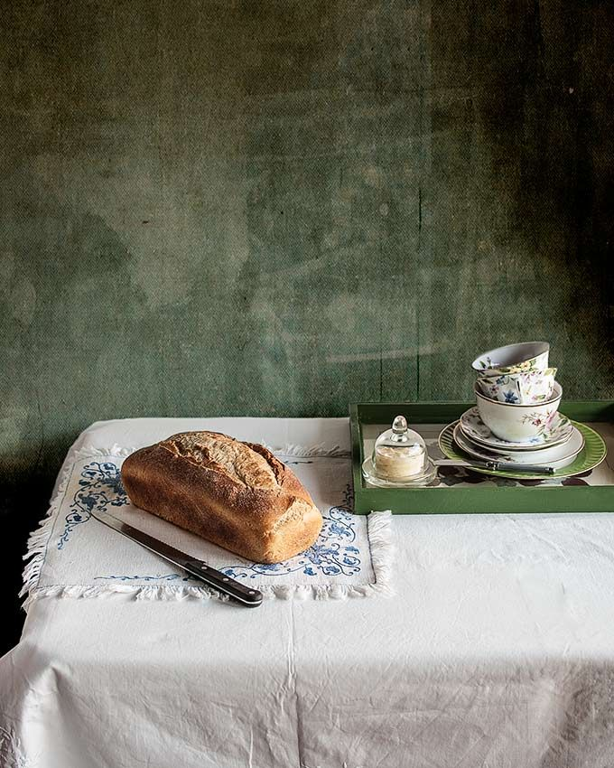 Pan de molde al estilo inglés para tostar de El pan, de Jeffrey Hamelman