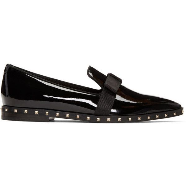 Valentino Black Pointy Moccasin Loafers stoaY3loK