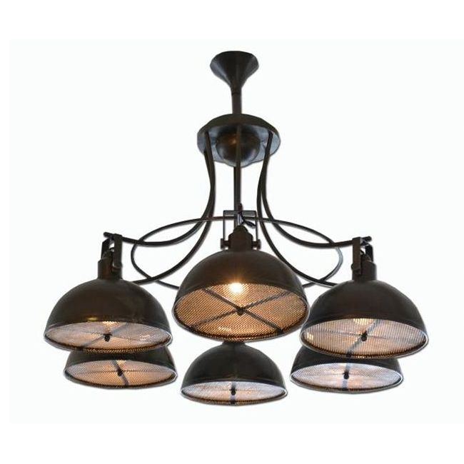 Industrial Chandelier Vanda Green