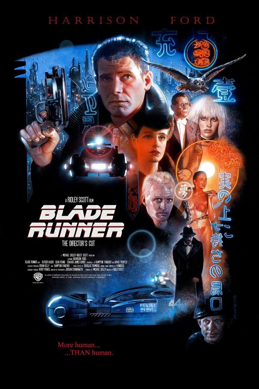 Blade Runner Movie Poster Nick Runge Begushij Po Lezkiyu Britvy Komiksy Plakat