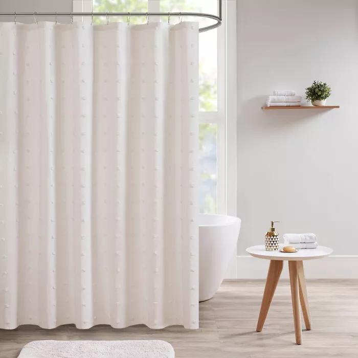Nobrand No Brand Kay Cotton Pom Pom Shower Curtain Ivory In 2020